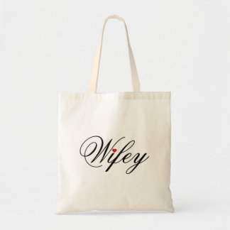 Wifey Red Heart Tote Bag