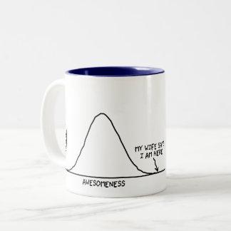 Wifey Says I'm Awesome (1/2 of a set) - Statistics Two-Tone Coffee Mug