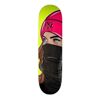 """Wifey"" skateboard deck lime green"