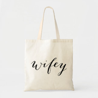 Wifey tote for bride honeymoon or wedding