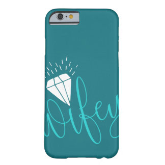 Wifey Turquoise Script & Diamond Barely There iPhone 6 Case
