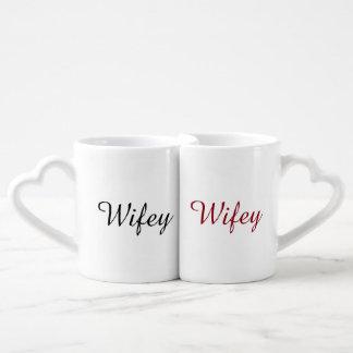 Wifey Wifey Two Brides Coffee Mug Set