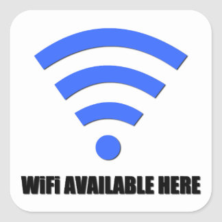 Wifi Available Here Sticker