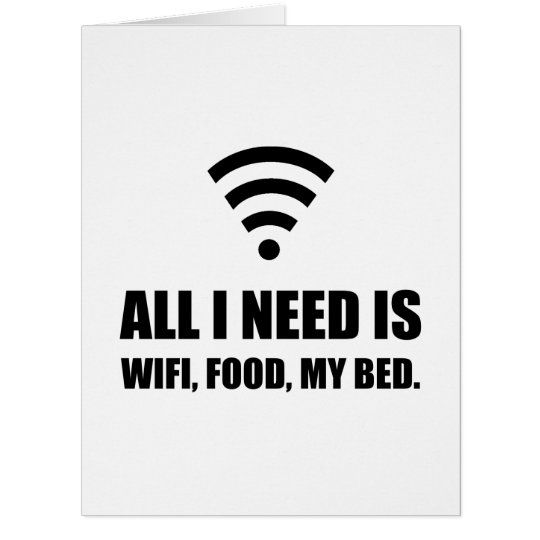 Wifi Food My Bed Card