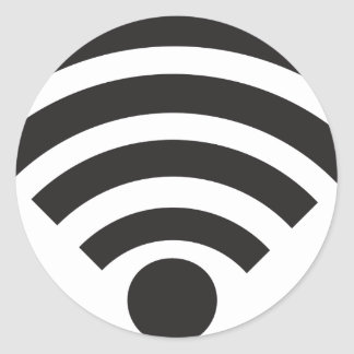 Wifi network symbol classic round sticker