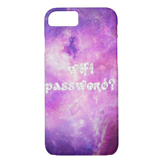 Wifi password, space and stars galaxy case IPhone