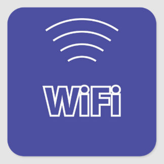 WiFi Sign Square Sticker
