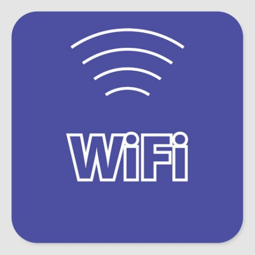 WiFi Sign Square Stickers