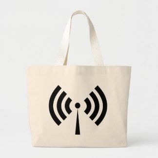 Wifi Signal Large Tote Bag