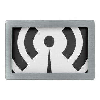 Wifi Signal Rectangular Belt Buckle