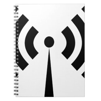 Wifi Signal Spiral Notebook