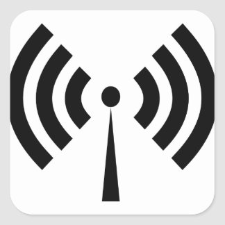 Wifi Signal Square Sticker