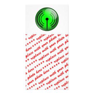 WiFi Symbol Custom Photo Card