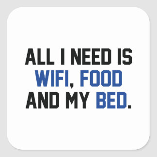 WifiFoodBed1C Square Sticker