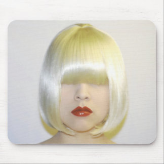 Wig mannequin make-up mouse pad
