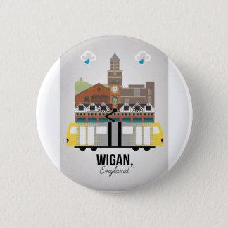 Wigan 6 Cm Round Badge