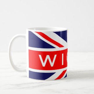 Wigan : British Flag Basic White Mug