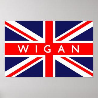 Wigan UK Flag Poster