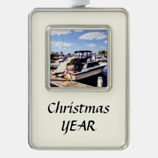 Wiggins Park Marina Silver Plated Framed Ornament