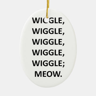 Wiggle Ceramic Oval Decoration