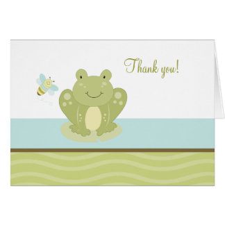 Wiggle Frog and Bug Folded Thank you note card