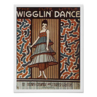 Wigglin Dance Vintage Songbook Cover Print