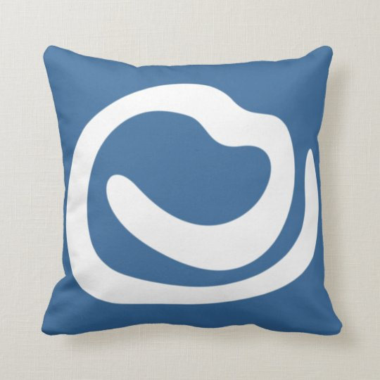 wiggly lines blue background modern pillow