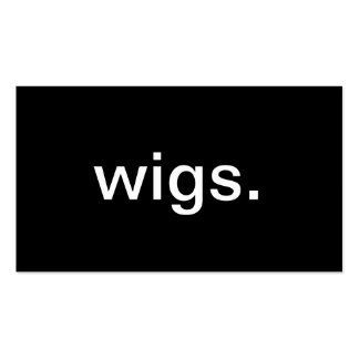 Wigs Pack Of Standard Business Cards