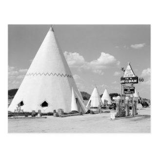 Wigwam Motel, 1940 Postcard