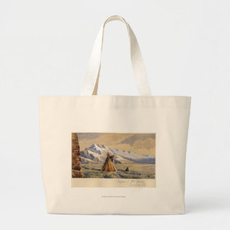 Wigwam of Ute Indians, Salt Lake City Large Tote Bag