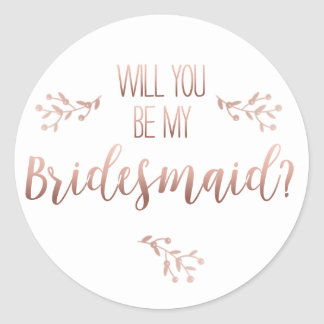 wiil you be my bridesmaid sticker