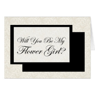 Wiil You Be My Flower Girl? Card