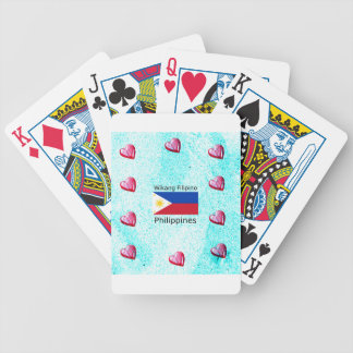 Wikang Filipino Language And Philippines Flag Bicycle Playing Cards