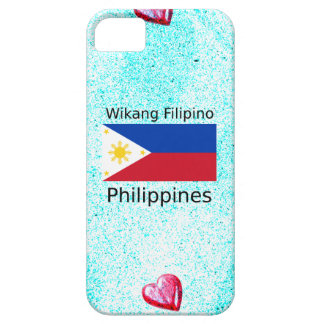 Wikang Filipino Language And Philippines Flag Case For The iPhone 5
