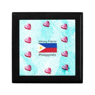 Wikang Filipino Language And Philippines Flag Gift Box