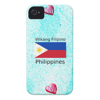Wikang Filipino Language And Philippines Flag iPhone 4 Covers
