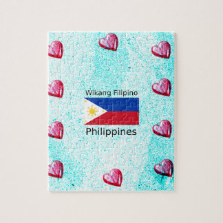 Wikang Filipino Language And Philippines Flag Jigsaw Puzzle
