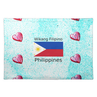 Wikang Filipino Language And Philippines Flag Placemat