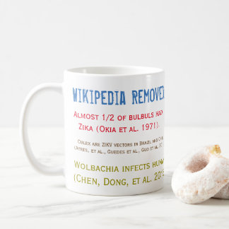 Wikipedia Removed Zika Studies Mug by RoseWrites