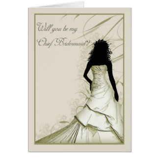 wil you be my Chief bridesmaid cream blends Card