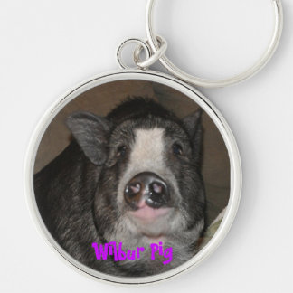 Wilbur Pig Keychain