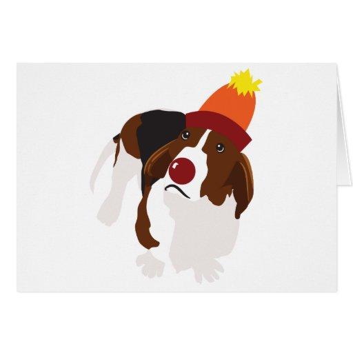 Wilbur the Circus Basset Greeting Card