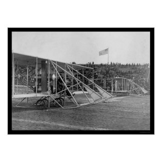 Wilbur Wright at Airplane Race 1909 Poster