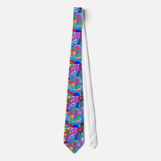 wild 70's love colours tie