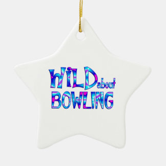 Wild About Bowling Ceramic Ornament