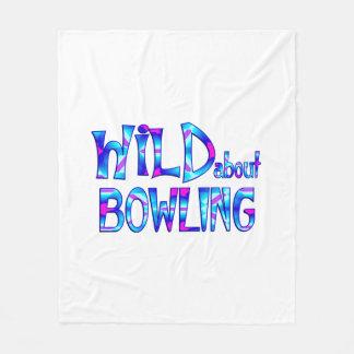 Wild About Bowling Fleece Blanket