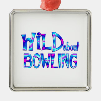 Wild About Bowling Metal Ornament