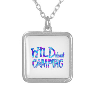 Wild About Camping Silver Plated Necklace