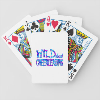 Wild About Cheerleading Bicycle Playing Cards