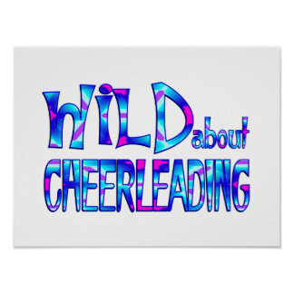 Wild About Cheerleading Poster